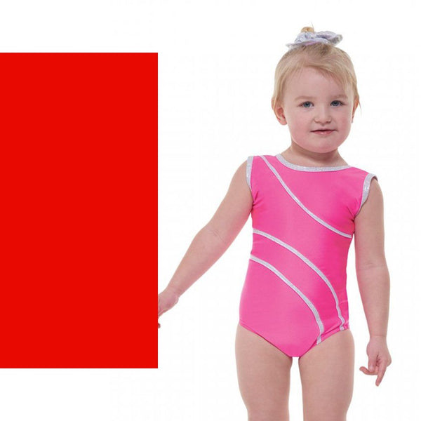 TAPPERS & POINTERS DEL/1 SLEEVELESS LEOTARD - RED SIZE 3A Dancewear Tappers and Pointers Red 3A (Age 11-12)