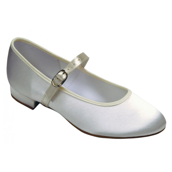 TAPPERS & POINTERS HOLLY LOW HEEL SATIN SHOE Weddings & Christenings Tappers and Pointers