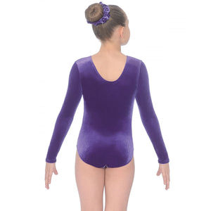 "THE ZONE PANACHE LONG SLEEVE SMOOTH VELVET GYMNASTIC LEOTARD - GRAPE 30"" Gymnastics The Zone"