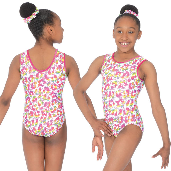 "THE ZONE TUTTI FRUTTI SLEEVELESS GYMNASTIC LEOTARD - SIZE 32"" Gymnastics The Zone"