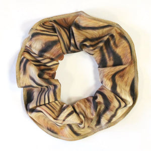 TIGER PRINT HAIR SCRUNCHIES....TEXT Accessories Click Dancewear