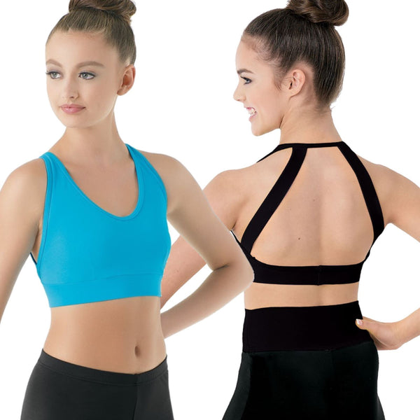 TURQUOISE OPEN BACK BRA TOP Dancewear Balera