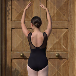 VANESSA - V FRONT V BACK SLEEVELESS LEOTARD Dancewear Click Dancewear
