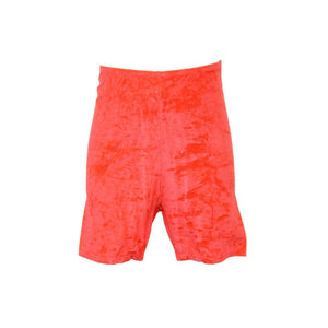 VSAM - VELOUR/VELVET THIGH LENGTH SHORTS Children's Dancewear Dancers World Flame 3A (Age 10-12)