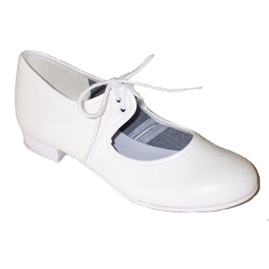 WHITE PU LOW HEEL TAP SHOES Dance Shoes Dancers World