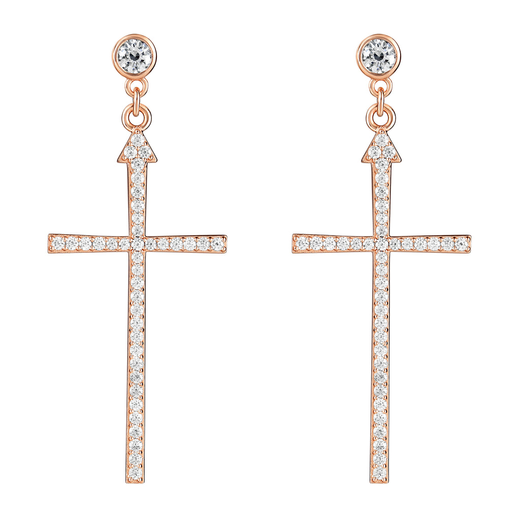 Madonna Earrings Rose Gold