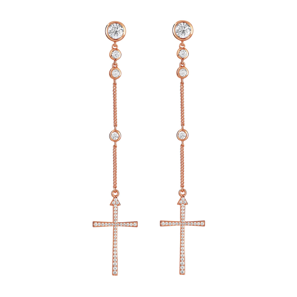 Imissa Earrings Rose Gold