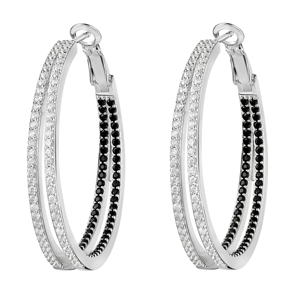 Nevaeh Hoops White Rhodium