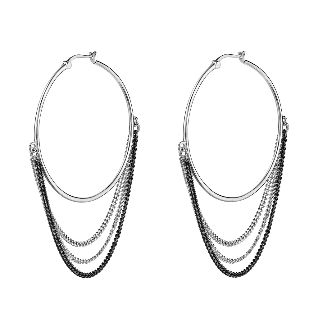 Interstellar Hoops White Rhodium