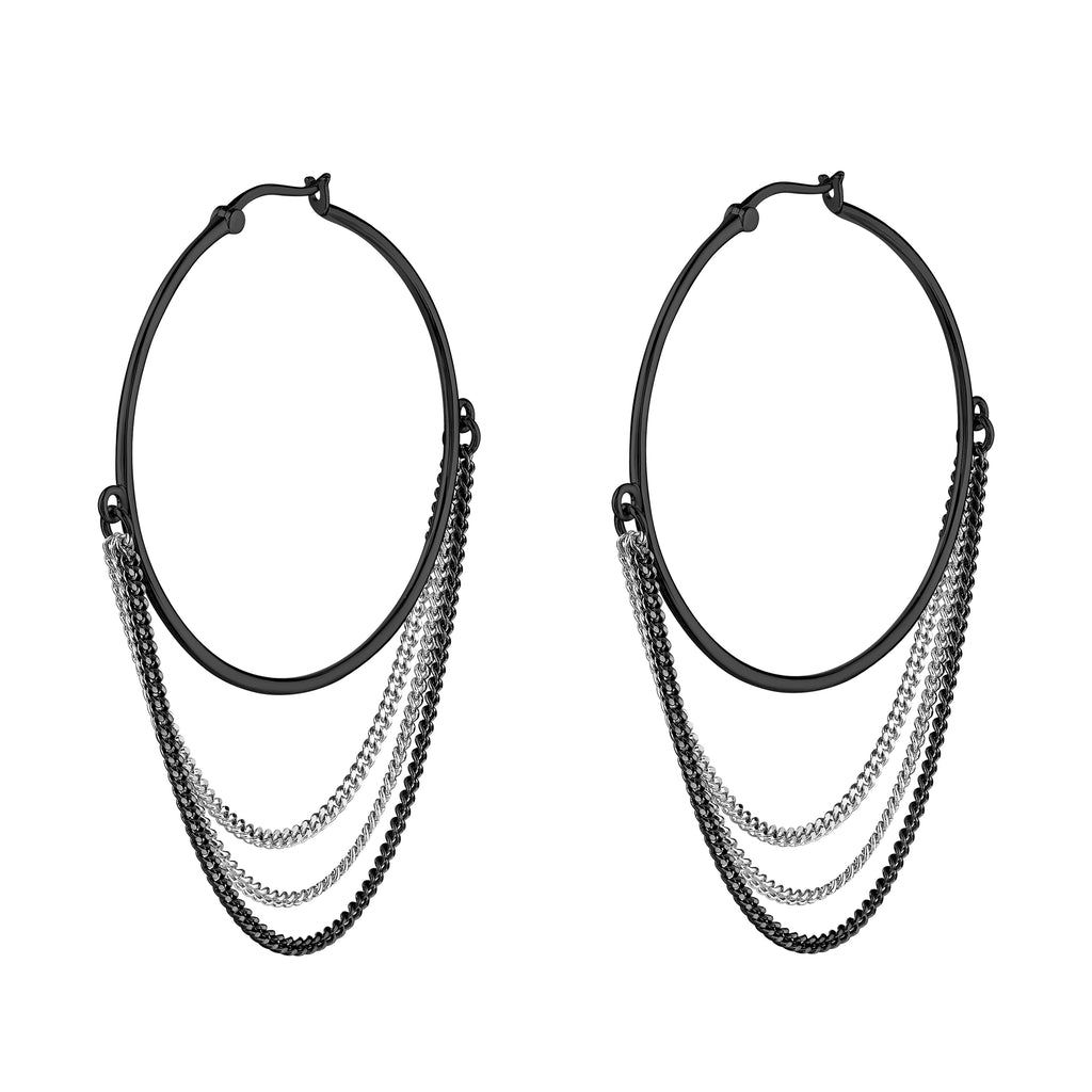Interstellar Hoops Black Rhodium