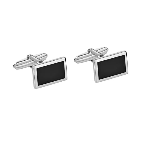 Extraterrestrial Cufflinks White Rhodium Black