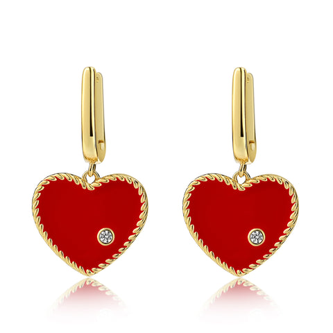 Brigitte Earrings Red