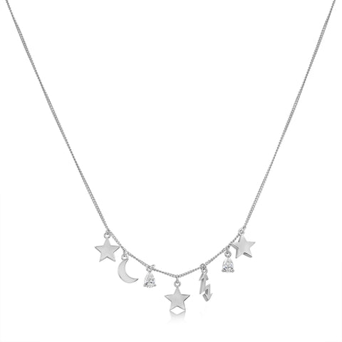 Jane Necklace White Rhodium