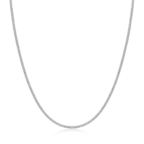 Francoise Chain White Rhodium