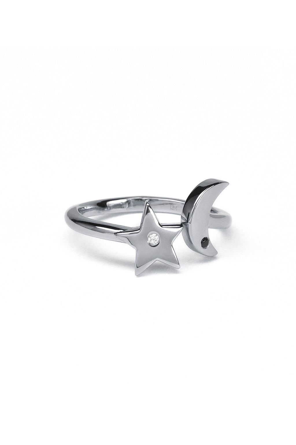 Galaxy Nova Ring White Rhodium