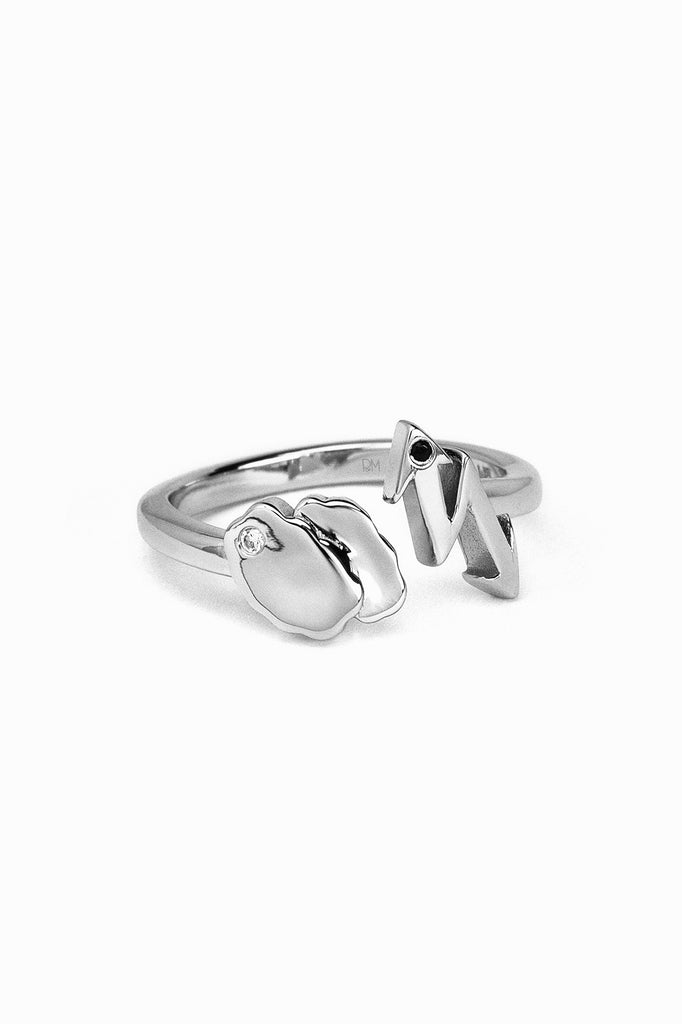 Galaxy Nube Ring White Rhodium