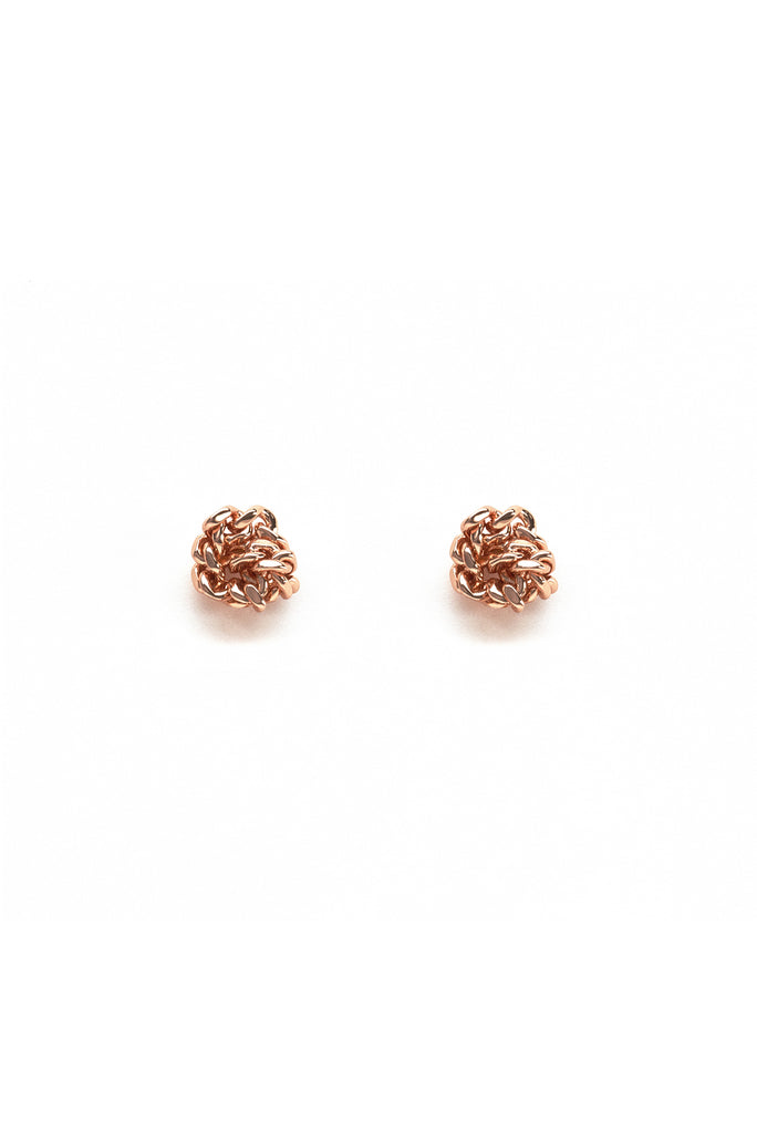 Knot Earrings Rose Gold