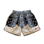 Paisley Shorts Black & Tan
