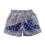 Paisley Shorts Blue & Gray