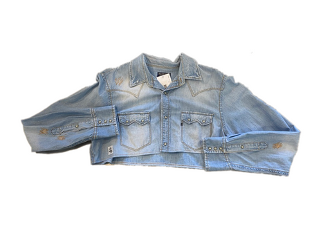 RNCSTRCT CROP TOP DENIM