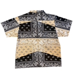 Black & Tan Paisley Button Up