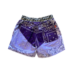 Paisley Shorts Purple
