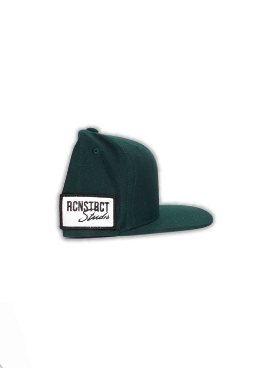 RCNSTRCT GREEN SNAPBACK // SIDE PATCH