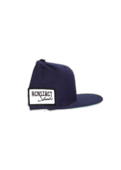 RCNSTRCT NAVY SNAPBACK // SIDE PATCH