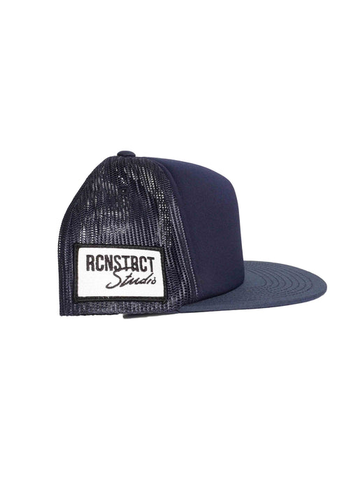 RCNSTRCT NAVY TRUCKER HAT // SIDE PATCH