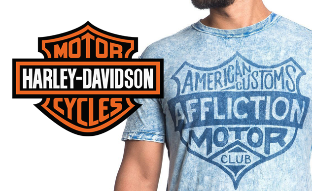 Harley-Davidson Suing Affliction For Allegedly Infringing On The Bar-And-Shield Trademark T-shirt designs allegedly resemble iconic logo