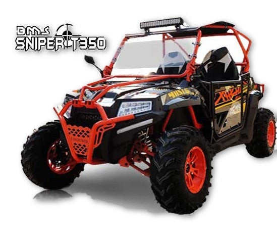 HOT!! New BMS SNIPER T 350 UTVs Single Cylinder 4 Stroke - Water Cooled - Fully Automatic - Constantly Variable Transmission - LED Headlights with High & Low Beam - Robust Front Bumper included - PDXMotorSport