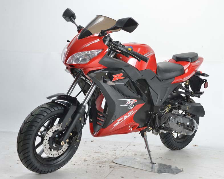 NEW Sport Bike 50cc - Air Cooled - Transmission SHAFT - Ignition C.D.I - Brakes Front/Rear DISC/DRUM - Max speed 50KM/H - PDXMotorSport