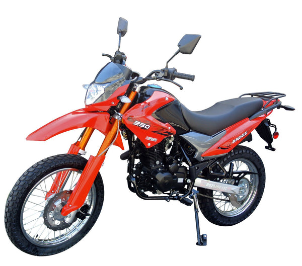 FAST & POWERFUL Enduro Bike 250cc w/Air Cooling Engine - 5 Gear Shifting - Remote Engine Start And Much More Upgraded - PDXMotorSport