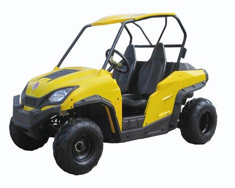 UTV 200 Two Seats Single Cylinder 4-Stroke - CVT - Air-Cooled - Digital Instrument - Waterproof Leather Seat - Hard Top - LED Taillight - 4 Wheel Drum Brakes - 4.55MM Thickness Body - PDXMotorSport