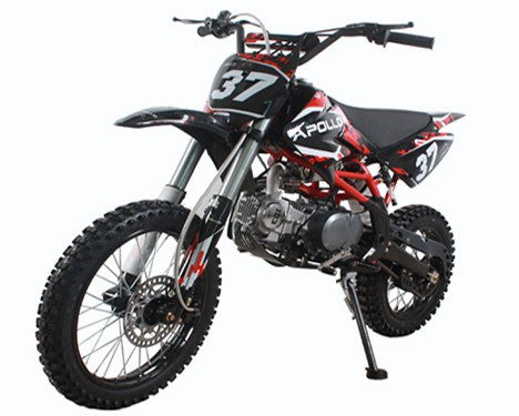 High Power Dirt Bike Apollo CRF-2 125cc SINGLE CYLINDER 4 STROKE - Twin Spar Tubular Frame With Plastic Cover - Kick Start - Air Cooled Engine - Max Speed 90 KMH - Ignition C.D.I - PDXMotorSport