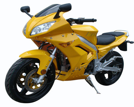 Motorcycle Street Racing 250cc Single Cylinder 4-Stroke - Forced Air Cooling - Electric Starter - Manual Clutch - Front And Rear Disc Brake - Front Hand Brake - Rear Foot Brake