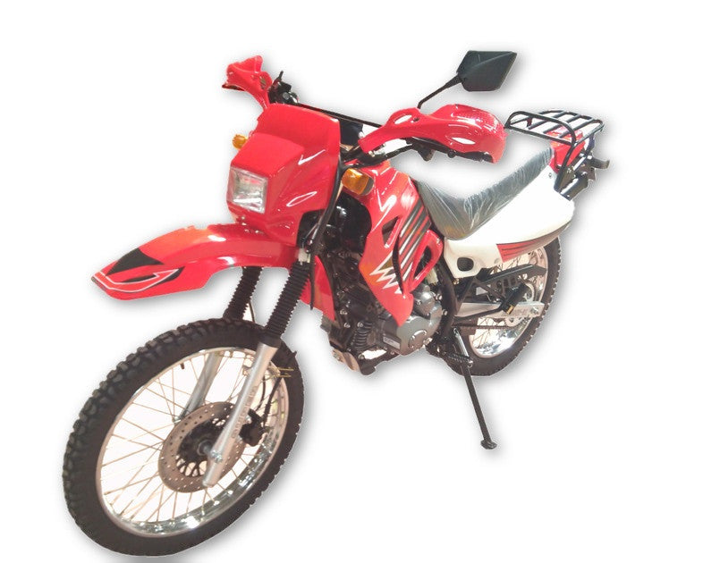 Dirt Bike 200cc Single Cylinder 4 Stroke - Air Cooling - Transmission Manual Clutch 5 Gears - Kick/Electric Start - PDXMotorSport
