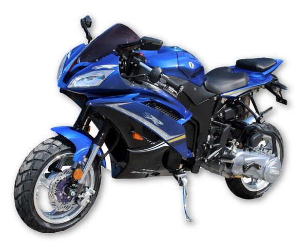 GY6 Street Bike 200cc Single Cylinder 4 stroke - Air cooled - Transmission CVT - F. Hydraulic Fork / R. Single Shock - Max Speed 90KM