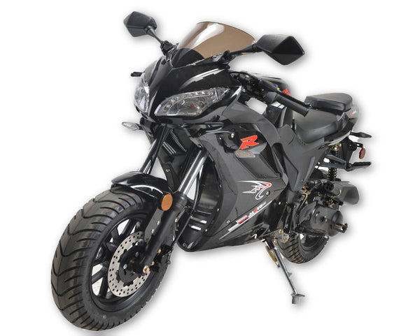 NEW Sport Bike 50cc - Air Cooled - Transmission SHAFT - Ignition C.D.I - Brakes Front/Rear DISC/DRUM - Max speed 50KM/H