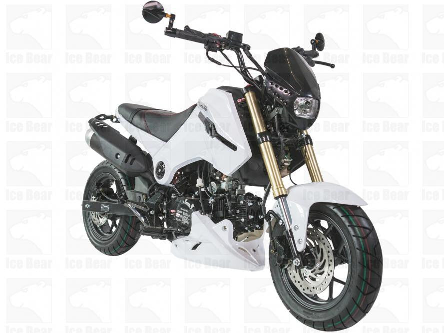 "New Fuerza Motorcycle 125cc w/4 Speeds Manual - Air Cooled - 4 Stroke - Front/Rear Disc Brakes - Front/Rear 12"" Aluminum Wheels - PDXMotorSport"