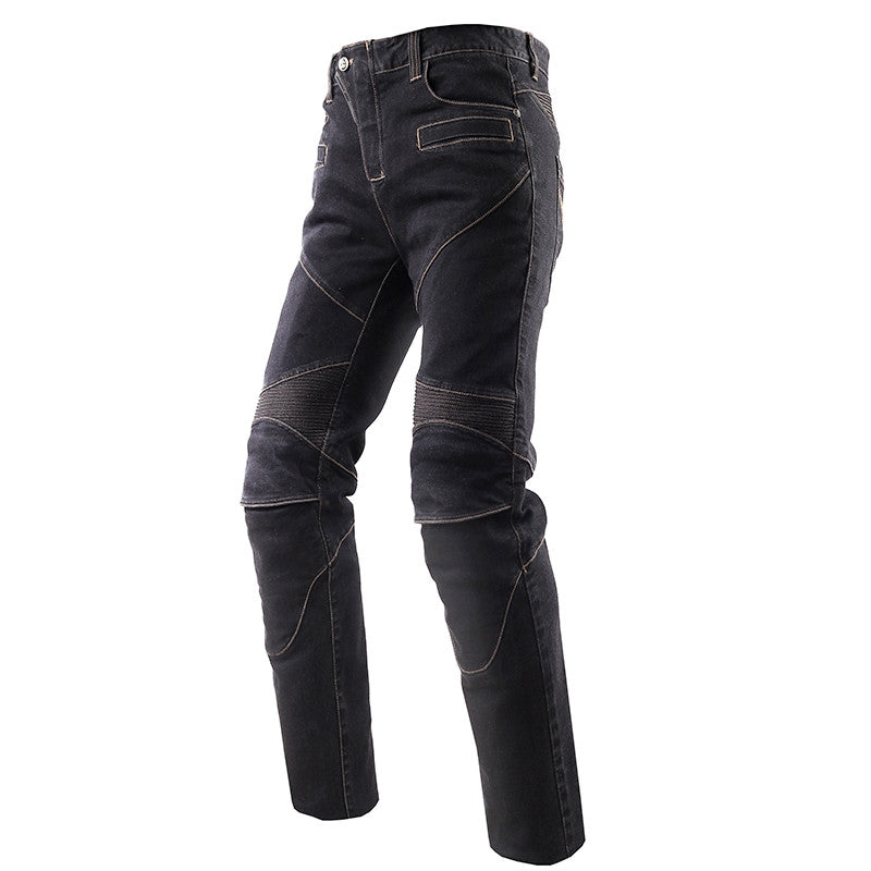 Protective jeans knee protector Rider pants with CE kneepads Motorcycle racing trousers Leisure pantalones moto Blue