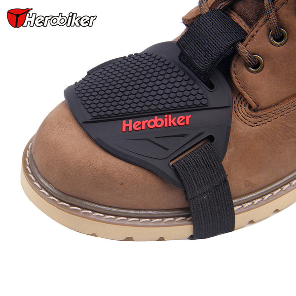 HEROBIKER Motorcycle Shift Pad For Riding Rubber Shift Lever Gear Shifter Shoe Boots Protector Shift Motorbike Boot Cover