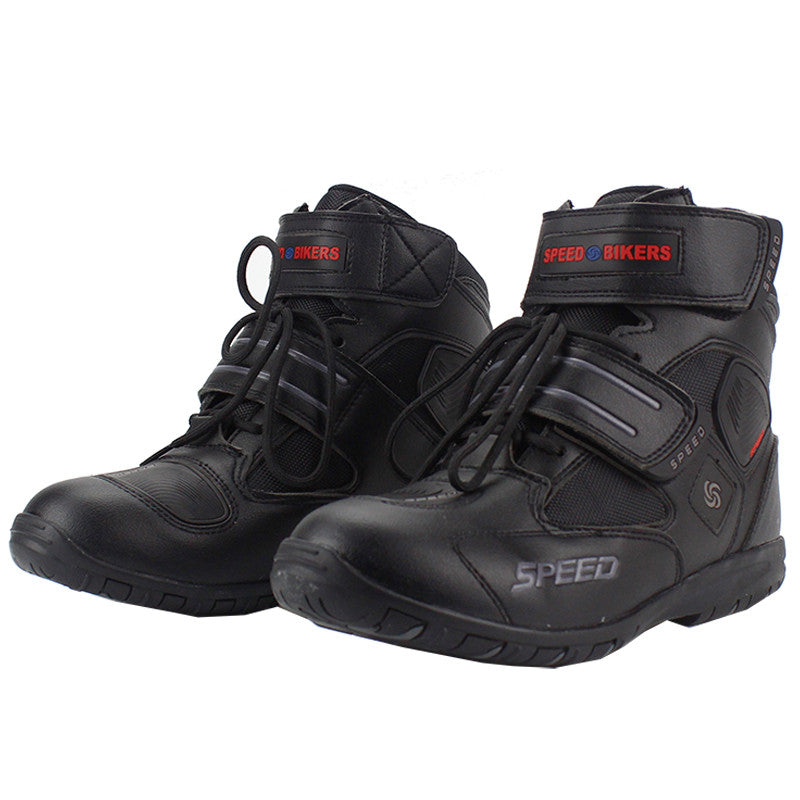Professional motorcycle boots men motorbiker boots botas motorcycles moto shoes racing pro biker,Size 40-45 black - PDXMotorSport