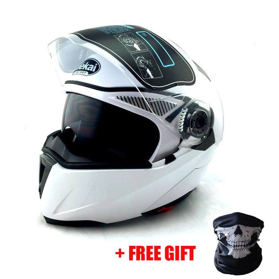 NEW ARRIVE DOT ECE sticker JIEKAI 105 Flip Up Motorcycle helmet / Helmets motorcross racing helmet M L XL XXL - PDXMotorSport