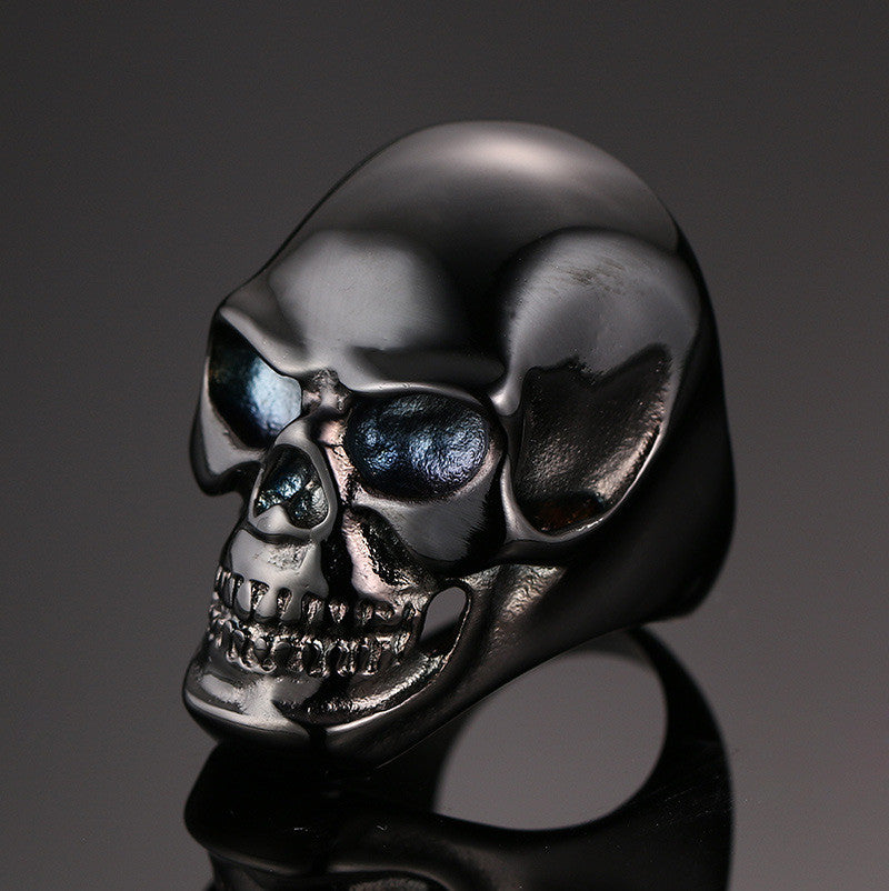 New Arrival Gothic Men's Punk Motorcycle Biker Ring Fashion Black Skull Skeleton Cool Man Finger Rings ring band fashion jewelry - PDXMotorSport