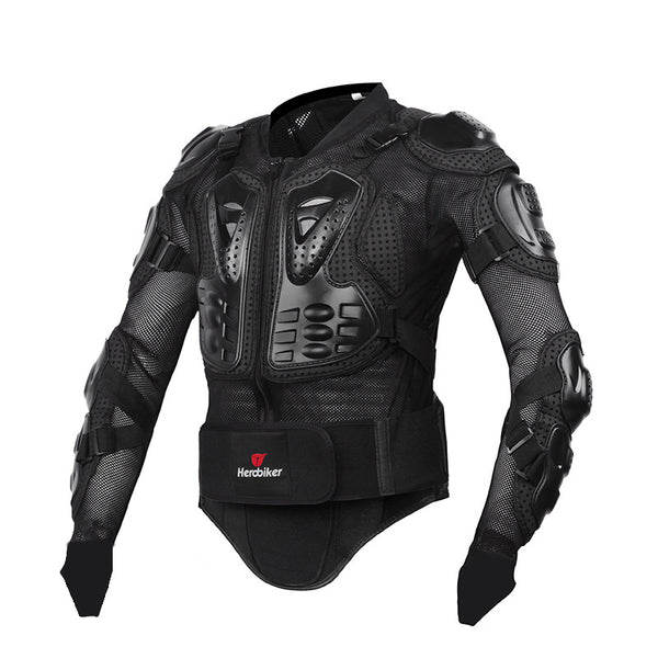 HEROBIKER New Men's motocross racing ally suit  jacket men  New Fashion Black and Red Motorcycle Full Body Armor Jacket S-XXXL - PDXMotorSport