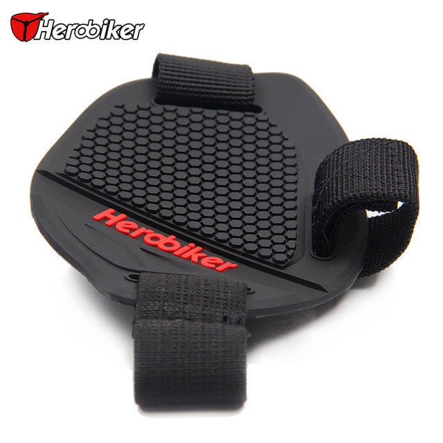 HEROBIKER Motorcycle Shift Pad For Riding Rubber Shift Lever Gear Shifter Shoe Boots Protector Shift Motorbike Boot Cover - PDXMotorSport