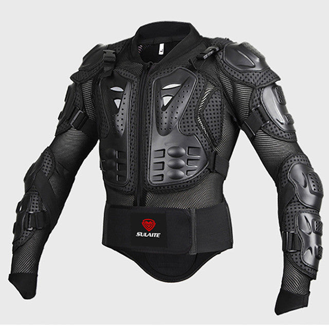 Black/RED Motorcycles Armor Protection Motocross Clothing Jacket Protector Moto Cross Back Armor Protector Protection Jackets - PDXMotorSport