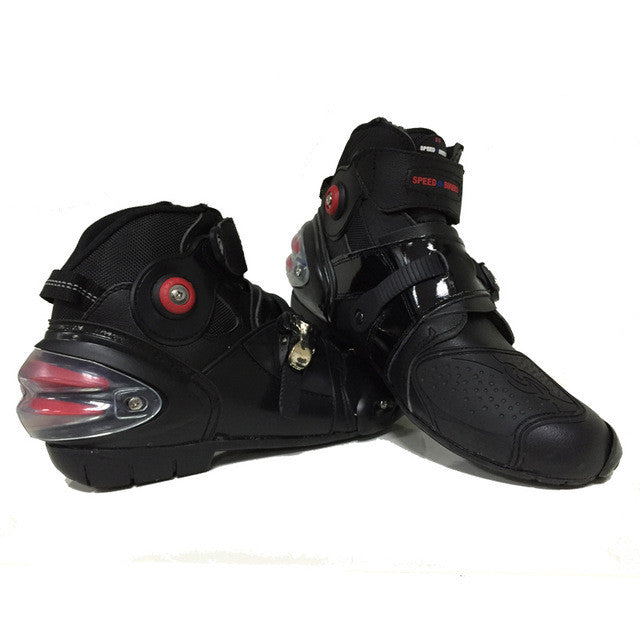 Pro-biker automobile racing shoes off-road motorcycle boots Professional moto black botas Speed Sports Motocross Black - PDXMotorSport