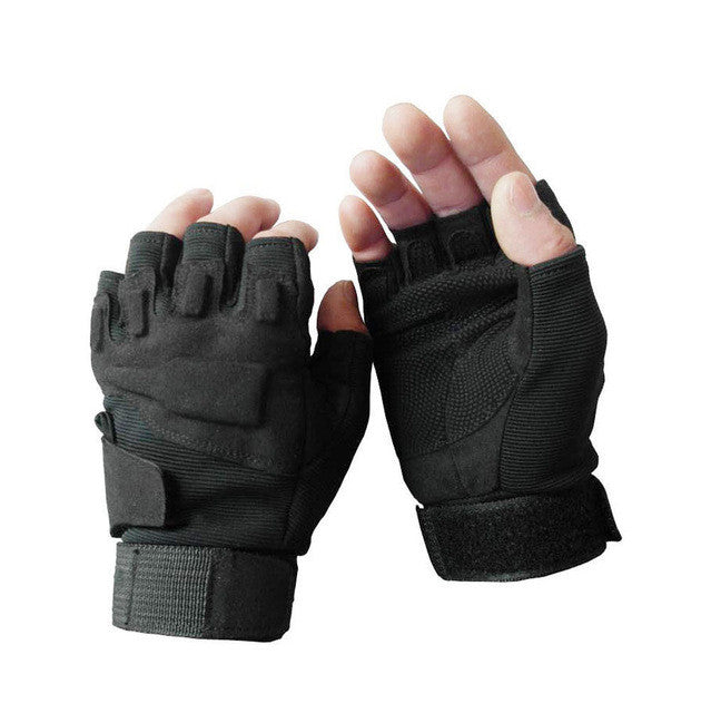 Professional Sport Motorcycle Gloves Men Protect Hands Half Finger Outdoor Camping Military Hunting Cycling Gloves - PDXMotorSport